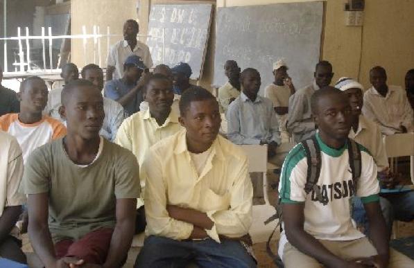étudiants, CCU à Ndjamena au Tchad