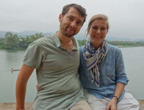 Odon et Laetitia en fin de mission au Vietnam